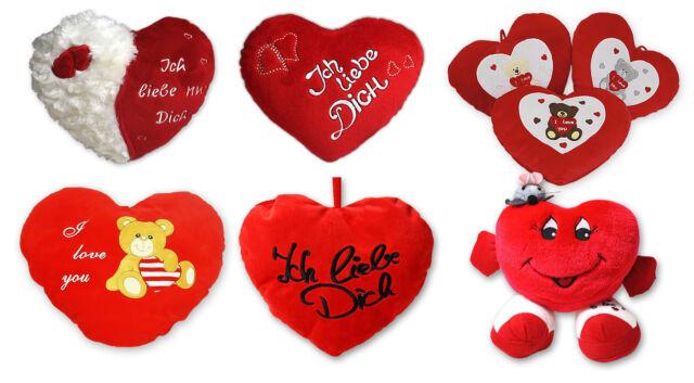 Plüschherz mit Armen Liebe rot Herzkissen Herz Kissen love Valentinstag Plüsch