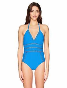90aa8140f7363 Ella Moss Women's Crafty One Piece Swimsuit, Stone Blue, Small ...