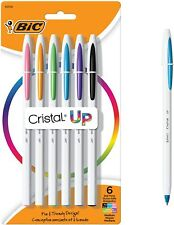 Bic Cristal Up Ballpoint Pens Medium Point 12mm Assorted Colors 6 Pack