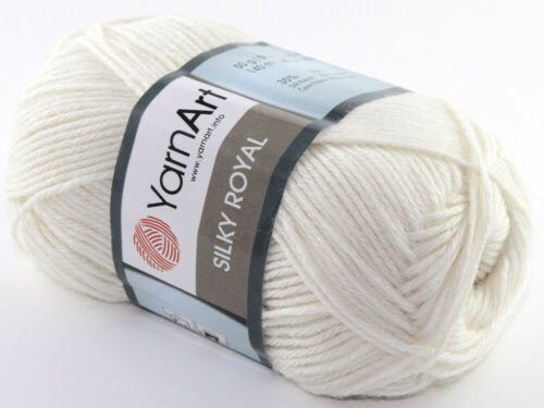 50g Silky Royal YarnArt 65/% lana merino 35/% silk Rayon 140m//50g