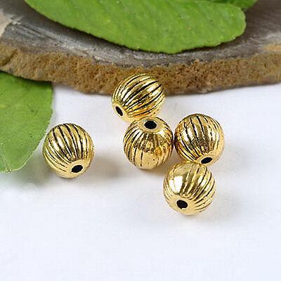 20pcs dark gold-tone Round Spacer beads h1333