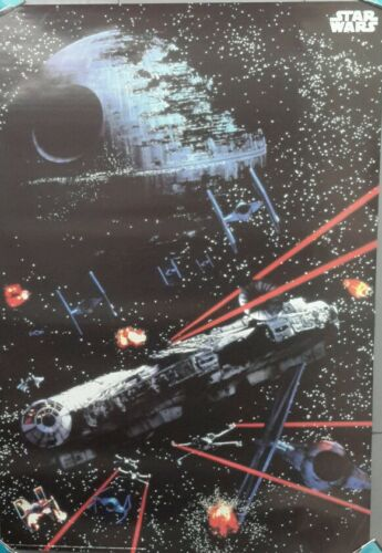 "1997 Star Wars ""Space Battle"" Poster 25""x36"" Imported from GermanyUNUSEDFW,"