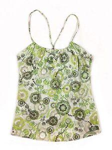 Rip-Curl-Ripcurl-Green-flower-pattern-shoestring-strap-zipper-side-top-womens-10