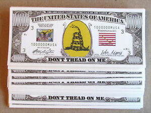 Don/'t Tread On Me Million Dollar Novelty Money