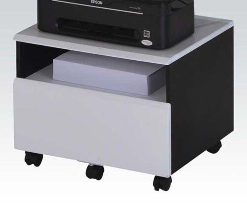 Black /& White NEW Acme Furniture 92073 Ellis File Cabinet