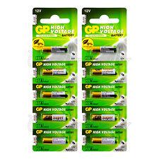 10 x GP 27A Alkaline Super batteries 12V MN27 A27 GP27A E27A EL812 L828 Alarms