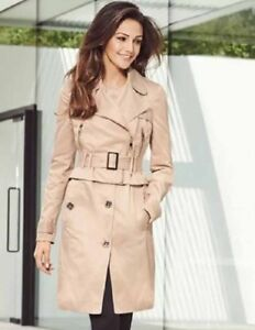3404924066 LIPSY LONDON BY MICHELLE KEEGAN TRENCH MAC LADIES COAT CREAM BEIGE ...