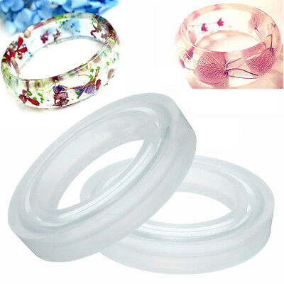 New Round Silicone Mold Resin Bracelet Bangle Diy Jewelry Casting Mould Tool
