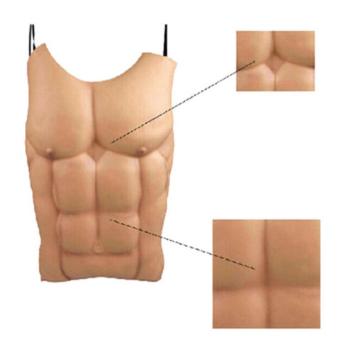 EVA Foam Chest Man Muscle Hunk Costume Halloween Cosplay Party Fancy Dress