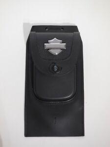 Harley-Davidson-B-amp-S-Premium-Tankblende-mit-Tasche-Leder-Konsole-Panel-91135-09