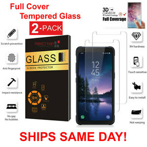 2-Pack-Samsung-Galaxy-S8-Active-Screen-Protector-Tempered-Glass-Protector-Clear