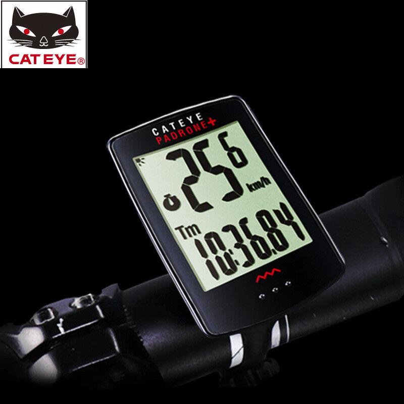 CATEYE CC-PA110W Ciclismo Bici Velocímetro computarizado de luz de fondo Inalámbrico Negro Nuevo