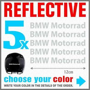 5x-BMW-Motorrad-White-REFLECTIVE-ADESIVI-PEGATINA-R1200-R1150-F800-F650-F700-GS