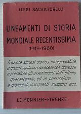 LINEAMENTI DI STORIA MONDIALE RECENTISSIMA (1919-1960)-LUIGI SALVATORELLI-P