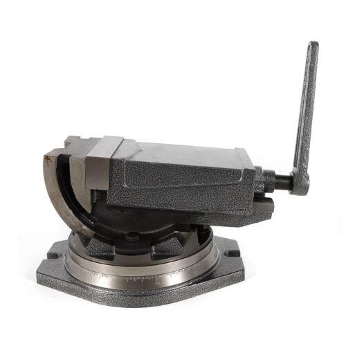"Precision Milling Vise 5/"" Tilting Vise Swivel Base Angle Tilting 2 Way Clamps"