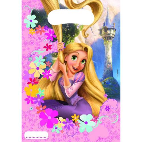 Chicos Chicas Fiesta de Cumpleaños Disney Tangled Rapunzel tema Loot Bolsa Almuerzo Bolsas De Regalo