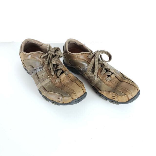Skechers Brown Leather Bicycle Toe
