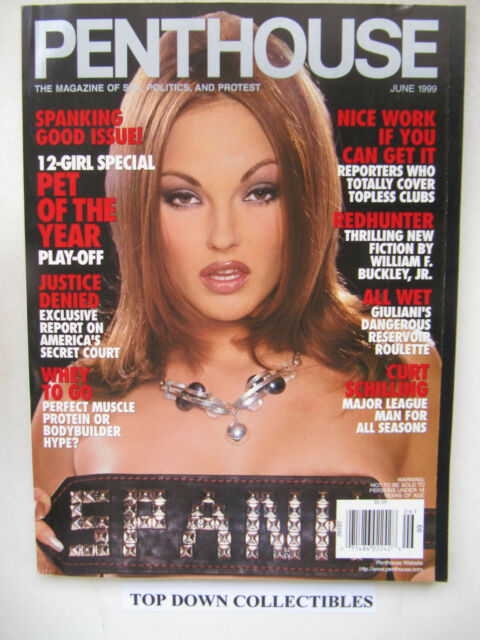 Penthouse Magazine  June 1999    Angelica Costello  Pet Of The Month
