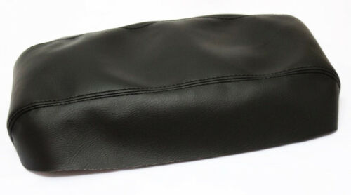 Fits 01-04 Ford Escape Black Vinyl Leather Center Console Lid Armrest Cover
