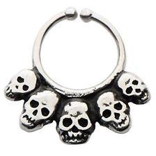 Brass Faux septum nose ring clicker body jewelry piercing prong ear lip w138