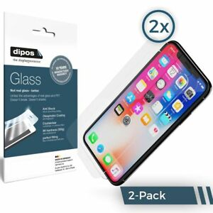 2x-Apple-iPhone-X-Protection-ecran-mat-Verre-souple-Film-Protecteur-9H-dipos