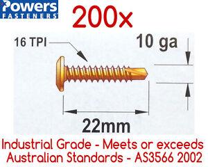 200x-10g-16-x-22mm-Wafer-Head-Self-Drilling-Metal-Tek-Screws-Phillip-Head-Screw
