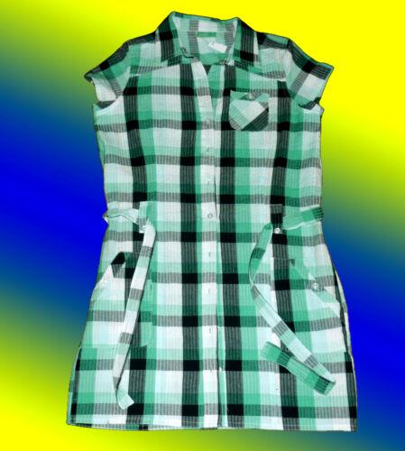 lange Damenbluse Tunika Blusenkleid  Hosenkleid Minikleid  m Gürtel Knitterlook