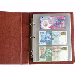 180-80mm-1-Album-Page-3-Pockets-Money-Bill-Note-Currency-Holder-PVC-Collection