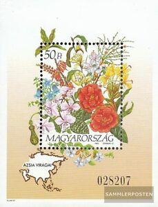 Ungarn-Block224-kompl-Ausg-postfrisch-1993-Blumen