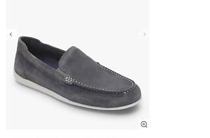 Rockport, Venetian Suede Loafers, Grey