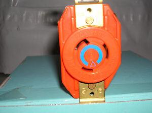HUBBELL IG2320 AC Receptacle NEMA L6-20 Female Orange Isolated Ground
