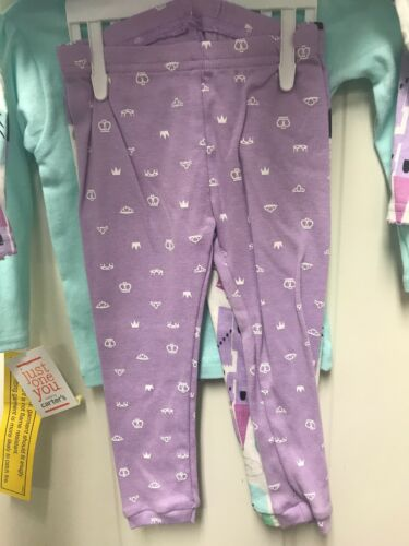 NWT Carter/'s Just One You SLEEPY PRINCESS 4 PIECE PAJAMA Set 12mo 18mo 4T 5T