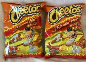 Frito-Lay-Cheetos-Flamin-039-Hot-Crunchy-Lot-of-2-5-oz-Best-By-7-14-20-Free-Ship