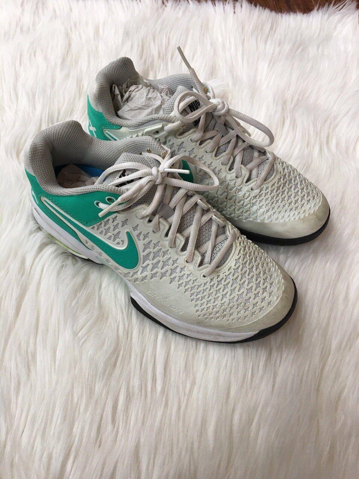 Nike air max drachen käfig blaugrün, blau - weiße größe 7,5 ortholite schuhe für frauen