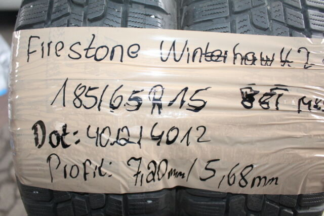 2x Firestone Winterhawk 2 Evo Winterreifen  185/65 R15 88T