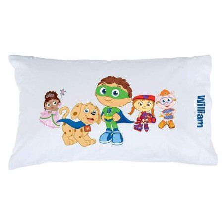Personalized Personalized Personalized Super Why  Pals and Pup Pillowcase W dd4ddd