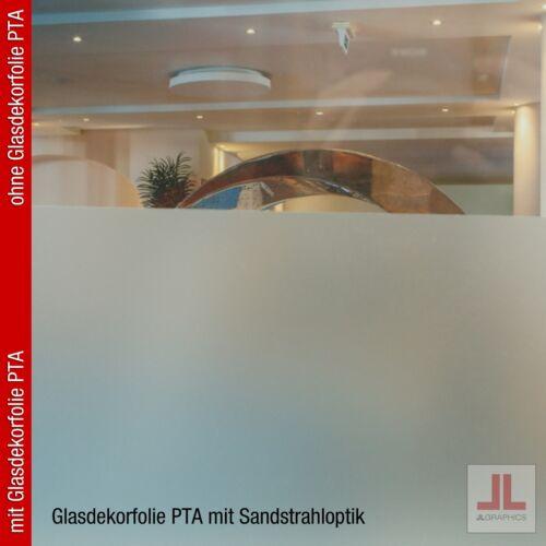 Glasdekorfolie PTASichtschutzfolieSandstrahloptikSilber61 x 100 cm