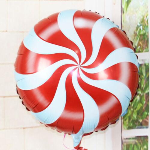 2PCS Candy Balloons Lolli s Swirl Peppermint Wedding Foil Party Decoration LDPT