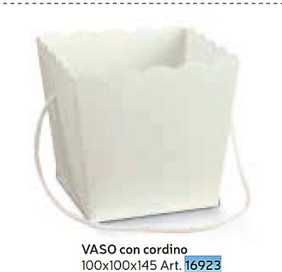 Preciso Vaso Con Cordino White10x10x14,5 Confettata Porta Piante Made In Italy Prodotti Di Qualità In Base Alla Qualità