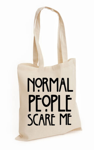 Normal, Bag Normal People Scare Me Cotton Tote Bag T-shirt Horror Dope Swag