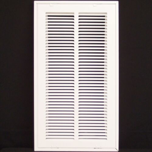 """Fixed Hinged 10/"""" X 24 Steel Return Air Filter Grille for 1/"""" Filter ceiling"""