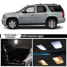 White Interior LED Package Kit 2007-2014 GMC Yukon Denali Tahoe Suburban