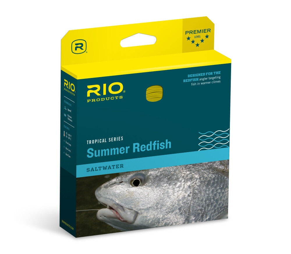 nuovo RIO SUMMER rossoFISH WF9F  9 WEIGHT FLOATING SALTWATER rossoFISH FLY LINE