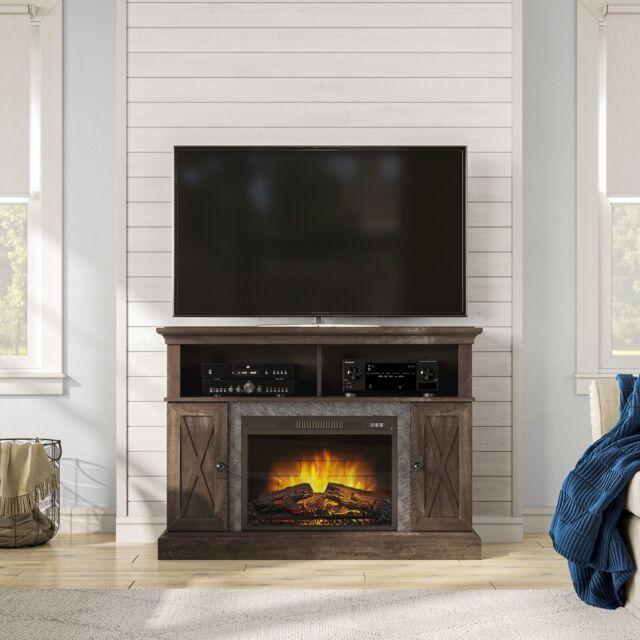 Ameriwood Home 1794296COM Farmington Electric Fireplace TV Console