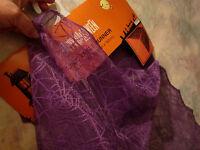 14 X 71 1/2 Halloween Purple Widow Lace Table Runner Spider Web Design