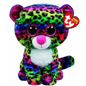 FidèLe Peluche Ty Beanie Boos Dotty Leopardo Multicolor 28 Cm Idea Regalo