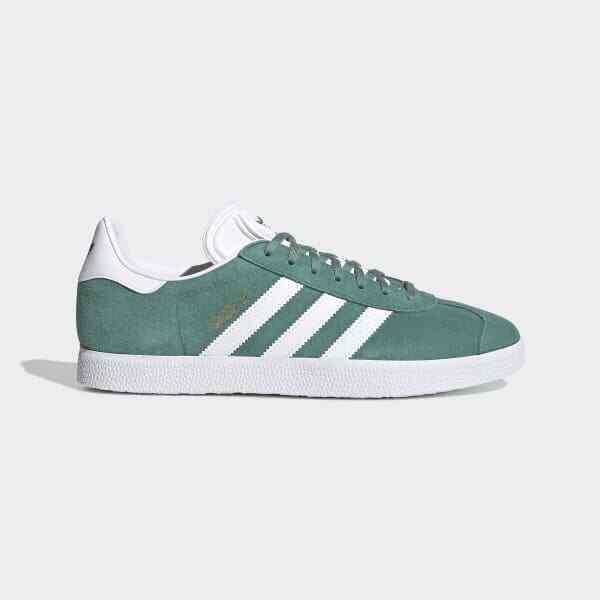 adidas Gazelle Trainers Green \u0026 White
