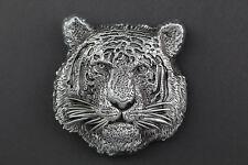 3D TIGER HEAD BELT BUCKLE METAL ANIMAL