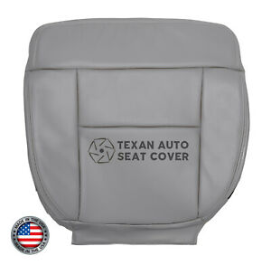 2004-2008-Ford-F150-Lariat-4X4-Driver-Bottom-Synthetic-Leather-Seat-Cover-Gray