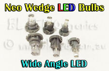10x Neo Wedge LCD Dash LED Bulbs T3 T4 T5 White Blue Red Green Amber